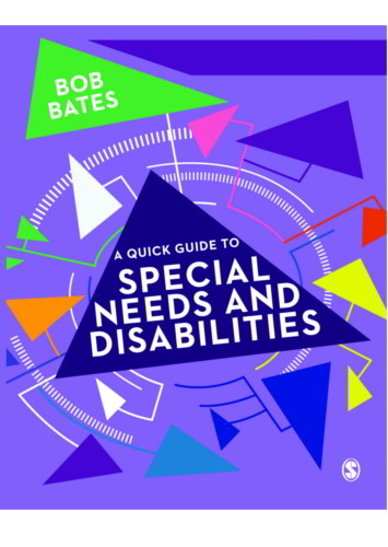 A Quick Guide to Special Needs and Disabilities - 9781473979741