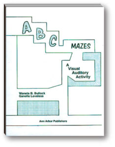 ABC Mazes.   Visual auditory perception