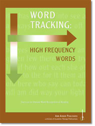 Word Tracking.          High Frequency Words