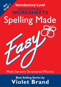Spelling Made Easy.  Introductory Level Worksheets.  Photocopiable.  Key Stage 1