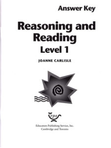 Teacher's Guide, Reasoning and Reading, Level 1.