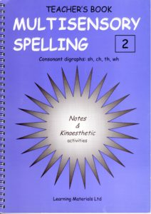 Multisensory Spelling  - Consonant digraphs: sh, ch, th, wh.   Book 2 and CD 2
