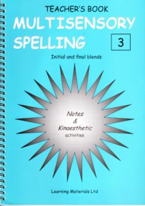 Multisensory Spelling  - Initial and final blends   Book 3 and CD 3