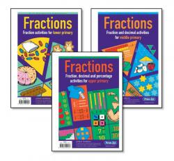 Fractions.  Fraction activities - Lower primary