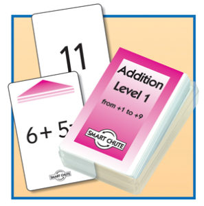 Addition Facts.  Level 1 chute card pack.  Y1+