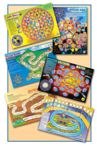 6 Maths Board Games.  Pack 1 - Year 3 to 4.   Smart Kids