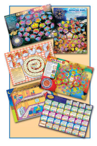6 Maths Board Games.  Pack 2 - Year 5 to 6.   Smart Kids