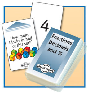 Fractions, Decimals and %  chute card pack.  Written problems.