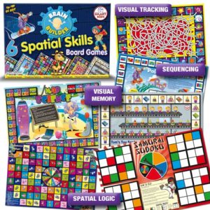 6 Spatial Skills Board Games.Suitable for: 3-5, 5-6, 6-7, 7+