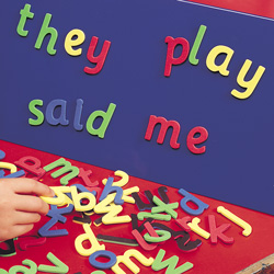 Magnetic Foam Cursive  Letters. 4 bright colours (104 letters).