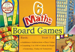 6 Maths Board Games - Basic.  Year 1/2/level.