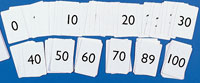 Playing cards 0 - 100