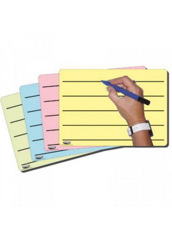 Tinted Whiteboards A4 - Pack 4 - TWB002