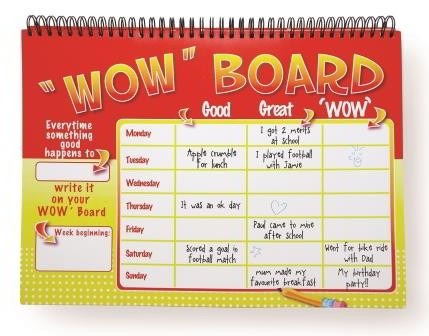 'WOW' Board for Children - to help self-esteem - KC02a