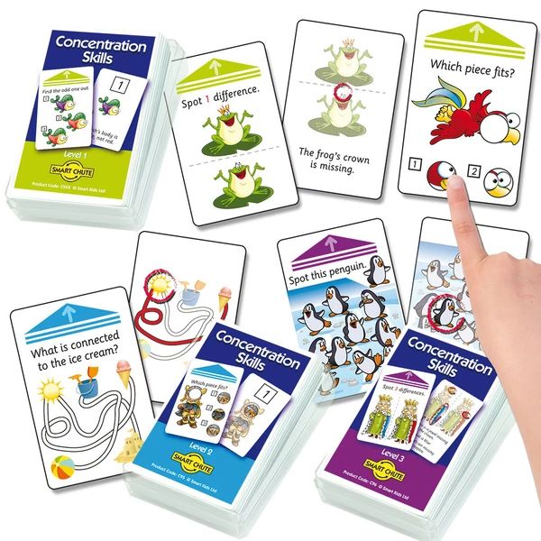 Concentration Skills Chute Cards -