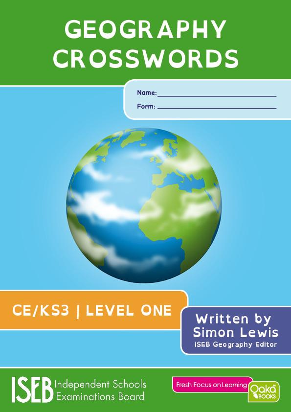 GEOGRAPHY CROSSWORDS LEVEL 1 - CE/KS3 -