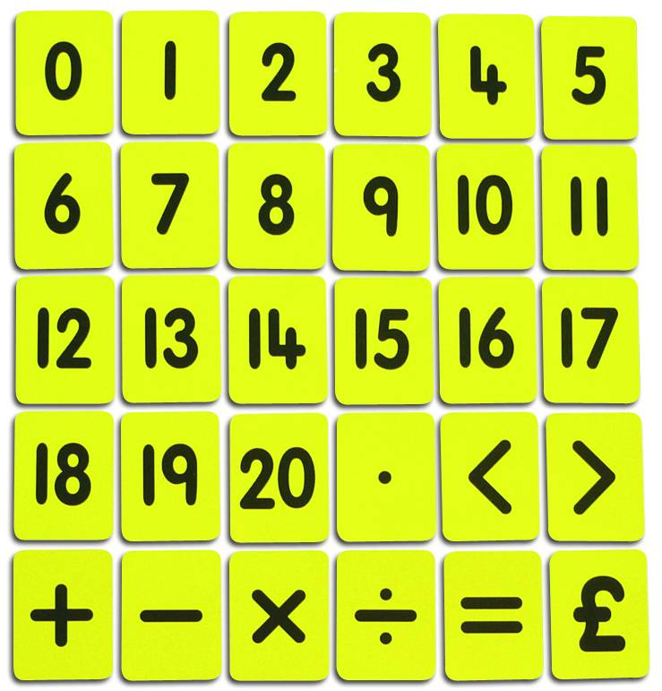 Number Cards - 0-20 & Functions card set - APMCY4